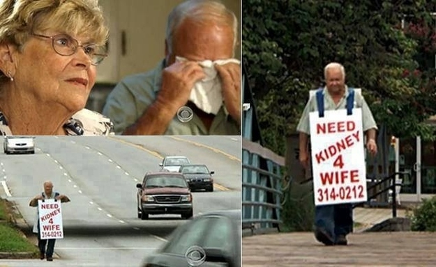 a man trying to get a kidney donor for his wife