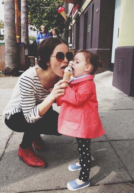 sharing an icecream