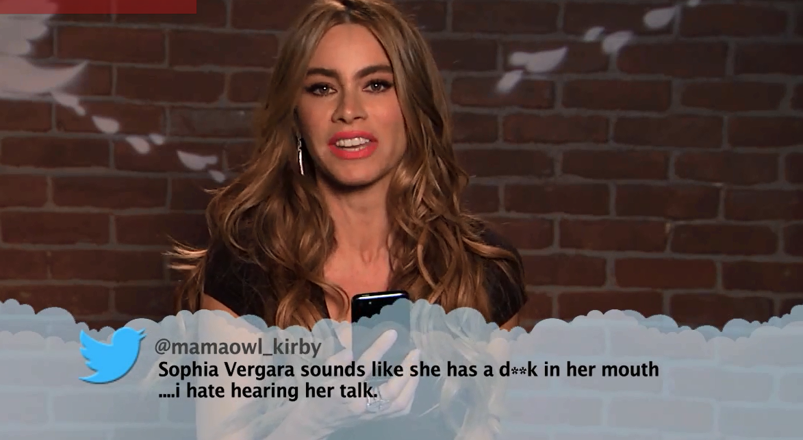 sofia vergara reads tweets