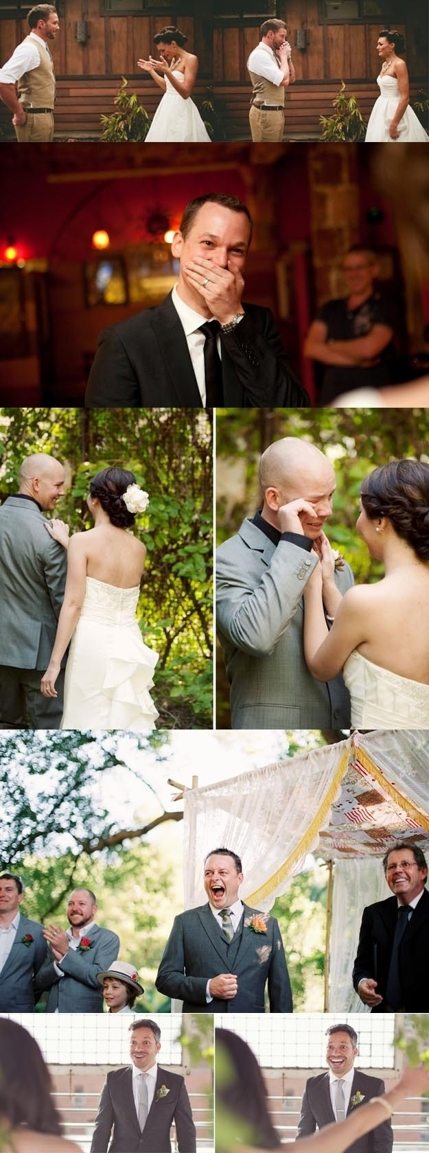 these grooms who saw their brides for the first time in a wedding dress