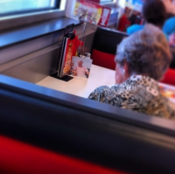 woman who has lunch everyday with her late husband