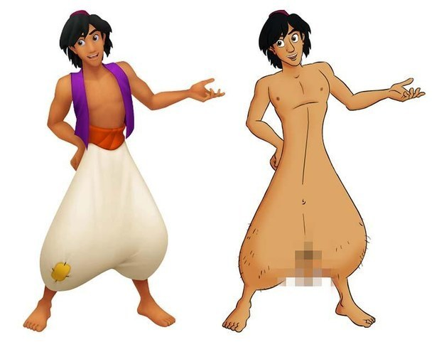 alladin without his pants on