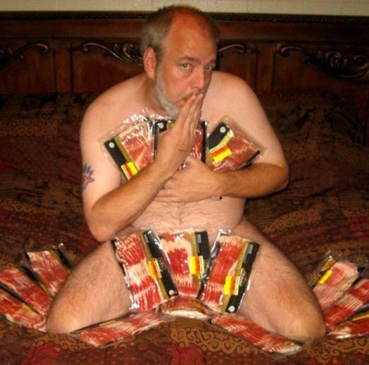 grandpa loves bacon too much